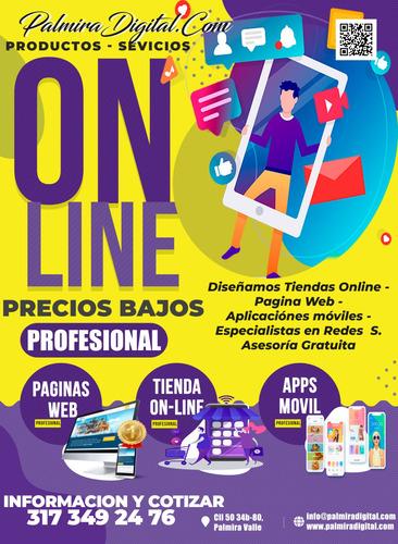diseño tiendas online - paginas web - apps - palmira valle