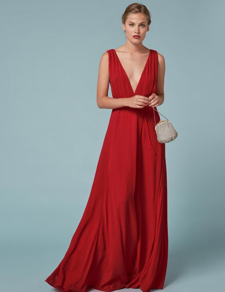 e36791dfb diseño. vestido fiesta noche largo rojo cóctel casamiento. Cargando zoom.