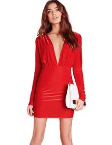 a54282a46944 Vestido Corto Escote V Strass - Vestidos de Mujer Rojo en Mercado ...