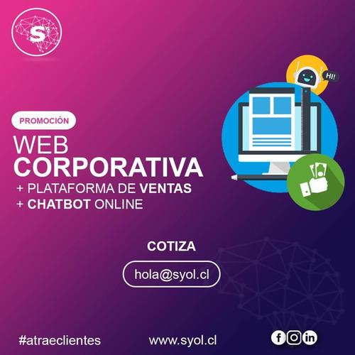 diseño web + crm + chatbot