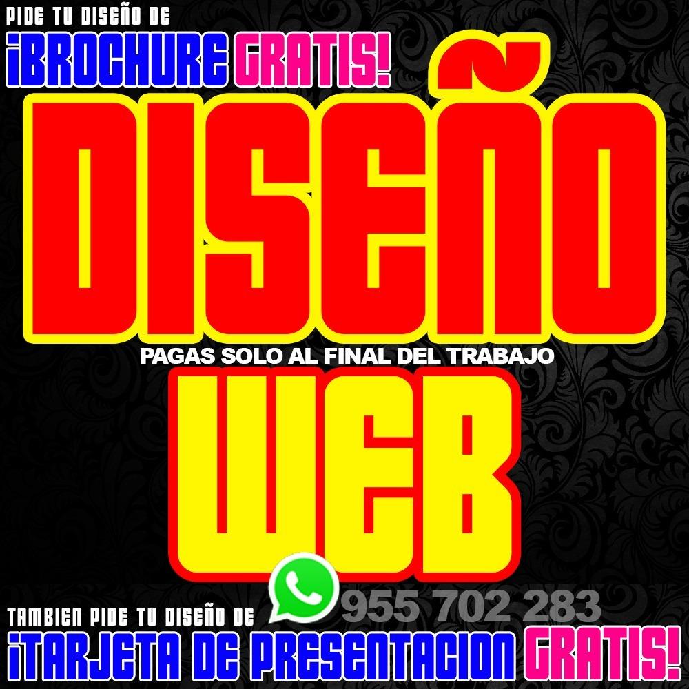 Diseño Web Plantilla Creacion De Pagina Web Brochure Gratis! - S ...