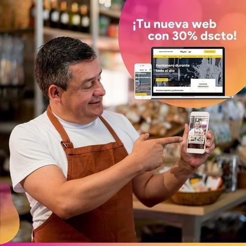diseño web profesional + dominio+ hosting