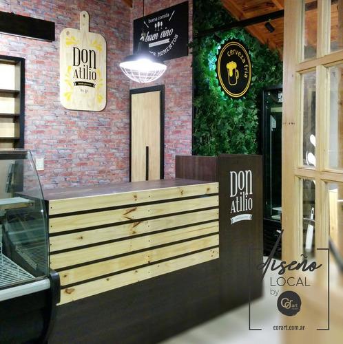 diseño y armado de locales comerciales,showrooms. reformas