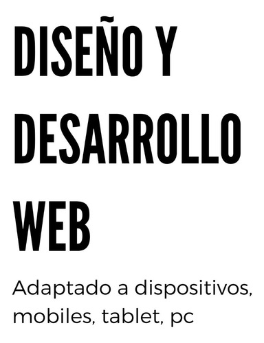 diseño y desarrollo web profesional adaptado.