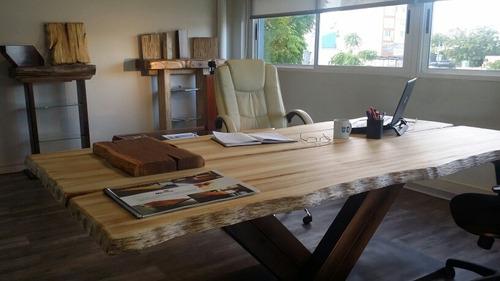 diseño y fabricación de mesas macizas estilo tronco