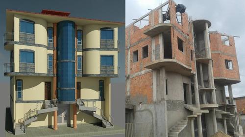 diseño y proyección profesional  de edificaciones en 2d y 3d