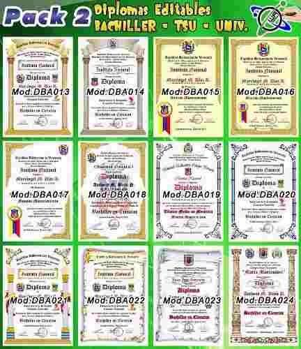 diseños 100% editables de diplomas títulos y reconocimientos