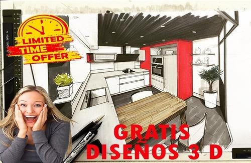 diseños cocina  interiores 3d render arquitectura