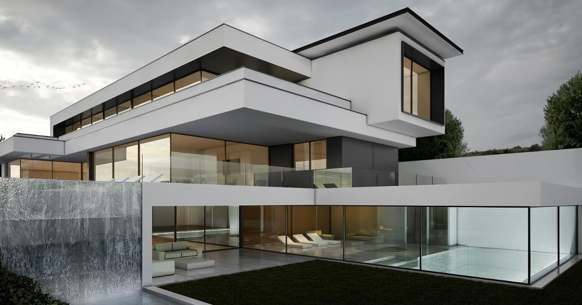 Dise os de casas modernas planos arquitectura renders for App diseno casas