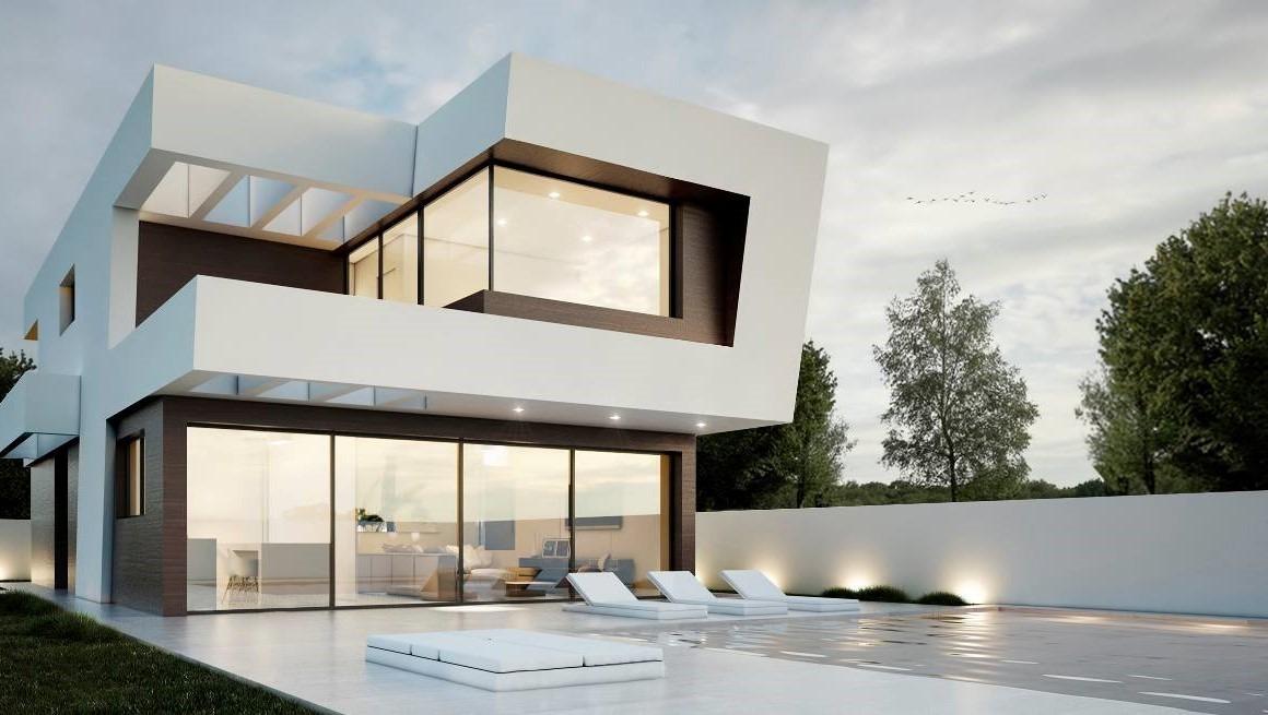 Dise os de casas modernas planos arquitectura renders for Render casa minimalista