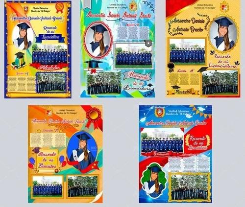 diseños de diplomas para egresados en psd y png editables