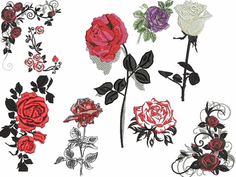 Diseos De Rosas Gallery Of Trendy Segunda Prueba Con Puntillismo - Diseos-de-rosas