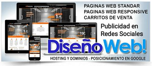 diseños de páginas web+infoguia+qr desde $2000 pesos x mes