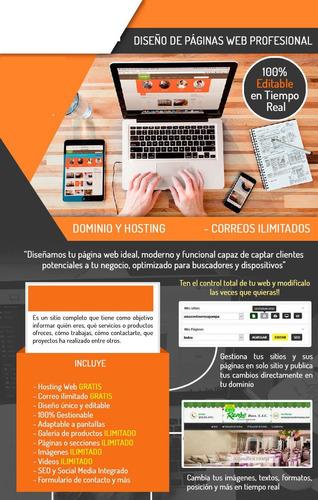 diseños de paginas web profesional administrarla tu mismo