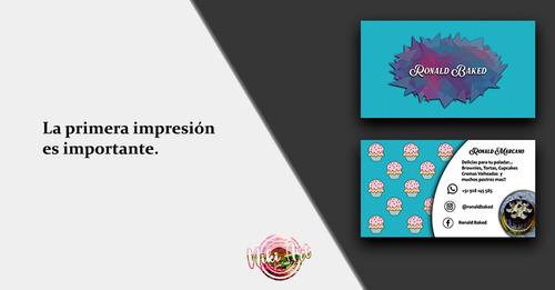 diseños de tarjetas de presentacion (solo diseño)