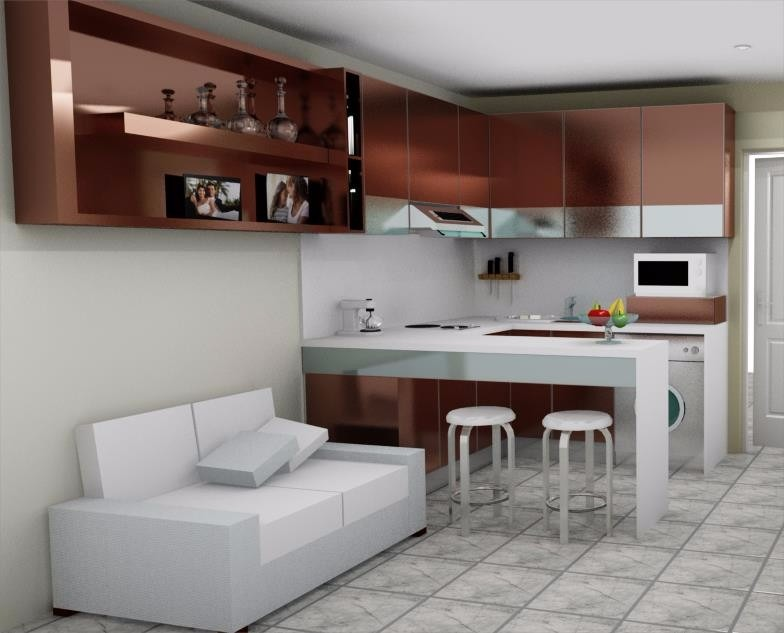 Dise os en 3d para carpinter a cocinas closet muebles for Diseno cocinas 3d