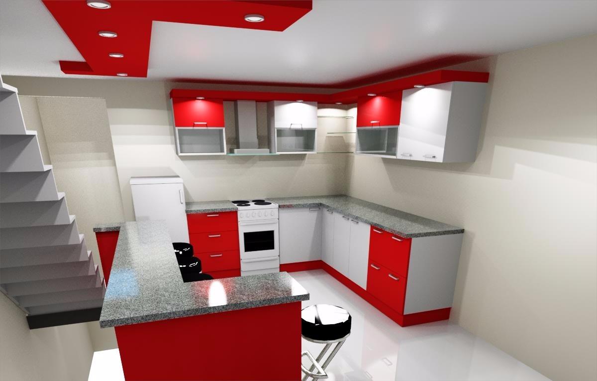Diseños En 3d Para Cocina Empotrada Todo Tipo De Ambientes - Bs ...