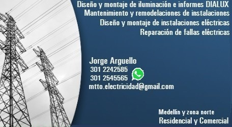 diseños, montajes y reparaciones eléctricas