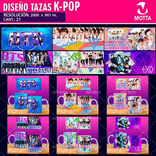 diseños musica k-pop estampar tazones mugs pop coreano