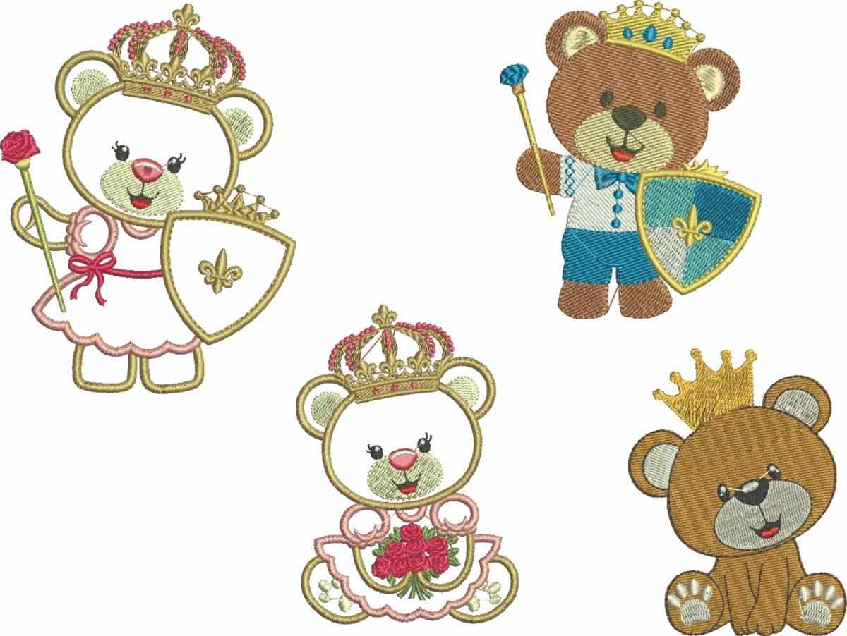 Diseños P/ Maquinas De Bordar Osito Príncipe Y Princesa - $ 61.44 en ...