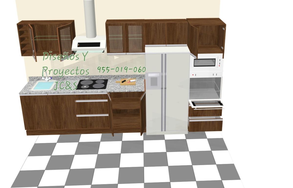Dise os para cocinas en melamina y granito trato directo for Cocinas en 3d gratis