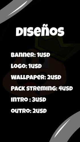 diseños para youtube/twitch/otros