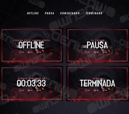 diseños personalizados para twitch youtube facebook