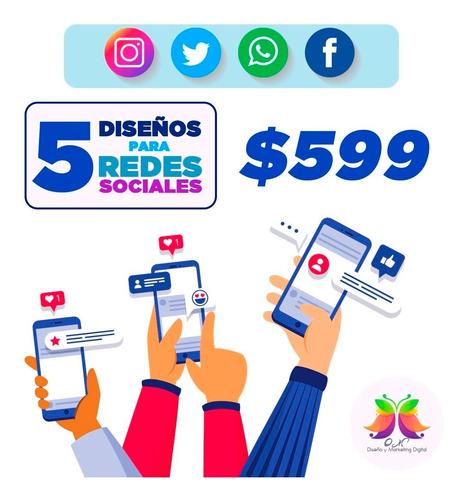 diseños publicitarios y redes sociales