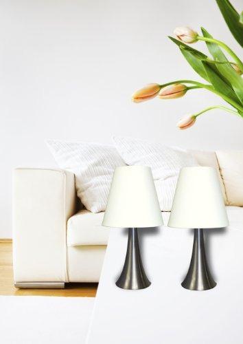 diseños simples lt2014-wht-2pk valencia - lámpara de mesa