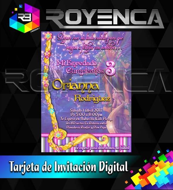 Diseños Tarjetas De Invitacion Digital Whatsapp Cumpleaños