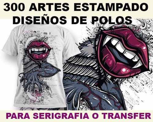 diseños vectores serigrafia estampado transfer polos ropa