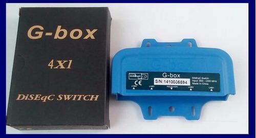 diseqc switch satelital 4x1 g-box 4 antenas a 1 receptor fta