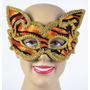 Masquerade Costume - Animal Tiger Decorativo Cat Eye Mask W