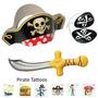 72 Pc Deluxe Pirata Vestido De Fiesta Favor Pack (12 Sombre