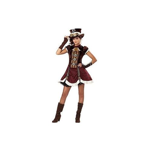 disfraces de california steampunk girl tween costume, large