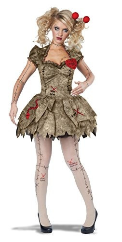 disfraces de california voodoo dolly, tan, grande