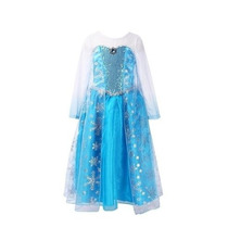 Disfraz Elsa Frozen Con Tiara Guantes Y Trenza Peluca