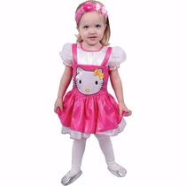 Traje Princesa Hello Kitty Talla 4 Con Tiara De Obsequio
