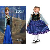 Vestido Difraz De Anna Frozen Disney 100% Original Importado