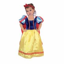 Disfraz Disfraces Blanca Nieve Bebe Princesa Vestido Capa