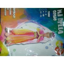 Disfraz Para Niña Bella Genio O Danza Arabe Talla7-10