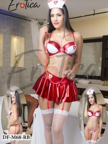 disfraces sexy lenceria enfermera+ accesorios +medias