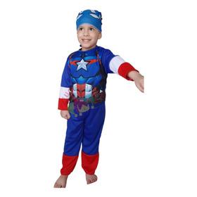 Disfraz  Capitán América Con Mascara