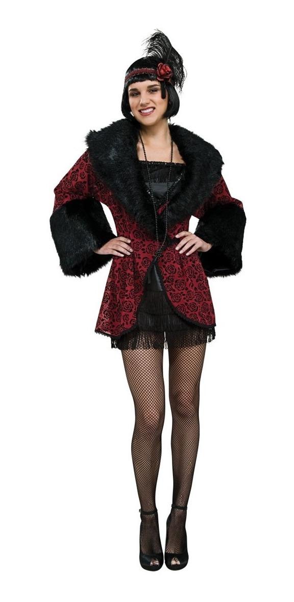 estilo clásico volumen grande venta limitada Disfraz Abrigo Años 20 Para Mujer, Talla: Std, Halloween