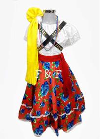 Disfraz Adelita Niña Con Accesorios