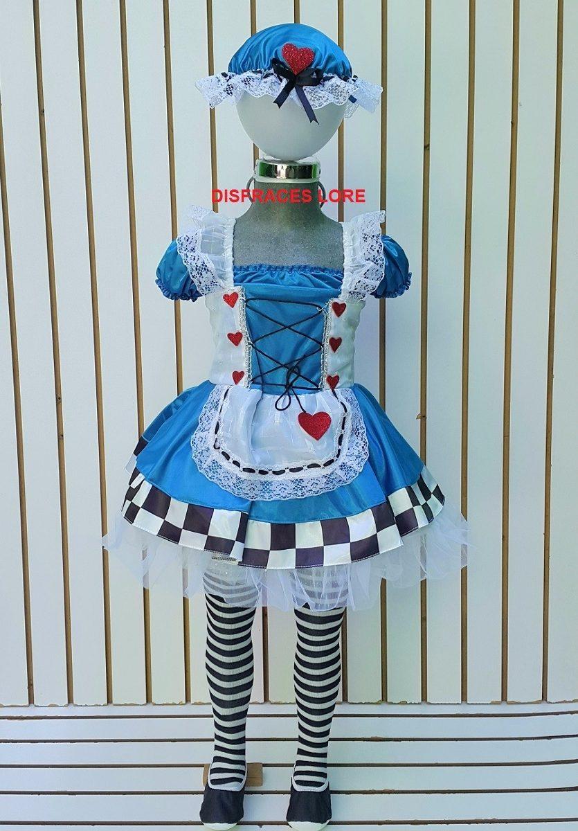 Disfraz Adulto Alicia En El Pais De Las Maravillas Vestido - $ 680.00 en Mercado Libre