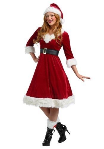 4d9e30ef767c8 Disfraz Adulto Mujer Santa Claus Traje Navidad -   1