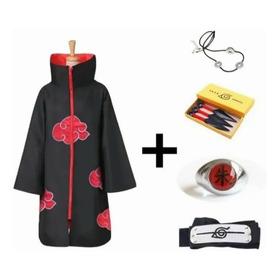 Disfraz Akatsuki Naruto Bata Con Accesorios