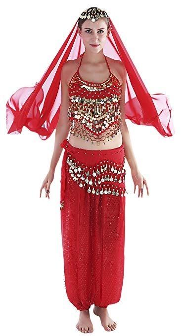 3bf525c91917 Disfraz Arabe Belly Dance Rojo Halloween Talla S Seawhisper ...