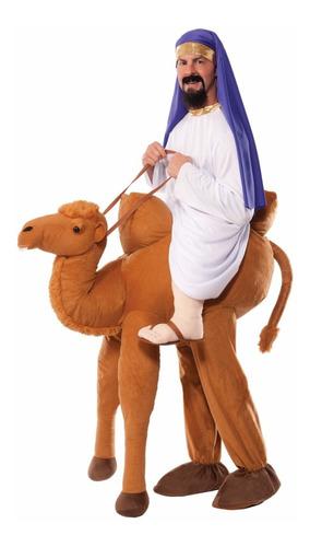 disfraz arabe rey mago en camello navidad para adultos